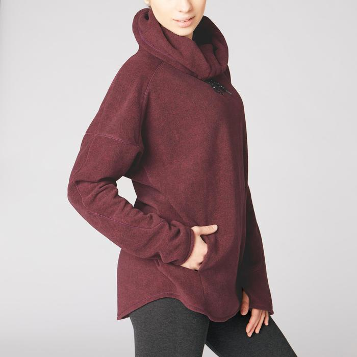 Sweat-shirt relaxation yoga micropolaire femme - 1419336