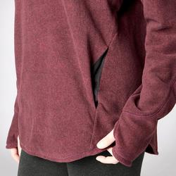 SWEAT RELAXATION YOGA FEMME BORDEAUX CHINE