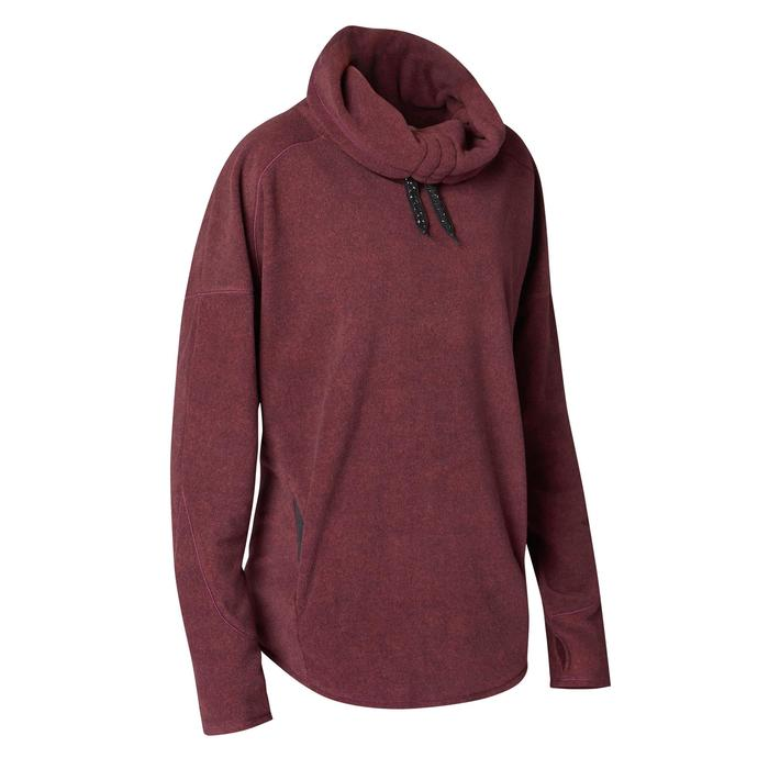 Sweat-shirt relaxation yoga micropolaire femme - 1419342