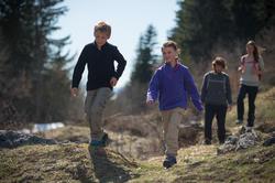 Waterdichte wandelschoenen Arpenaz 100 mid voor kinderen, met veters - 141935
