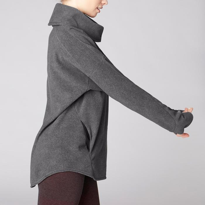 Sweat-shirt relaxation yoga micropolaire femme gris