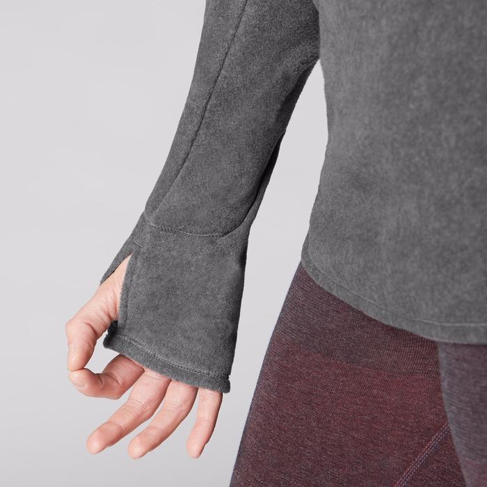 Damessweater voor relaxatie bij yoga gemêleerd grijs