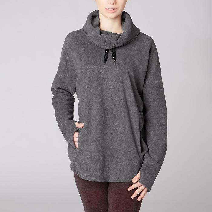 Sweat-shirt relaxation yoga micropolaire femme - 1419361