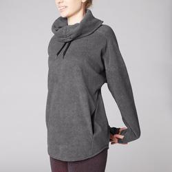 女款放鬆瑜珈刷毛汗衫 - 雜灰色