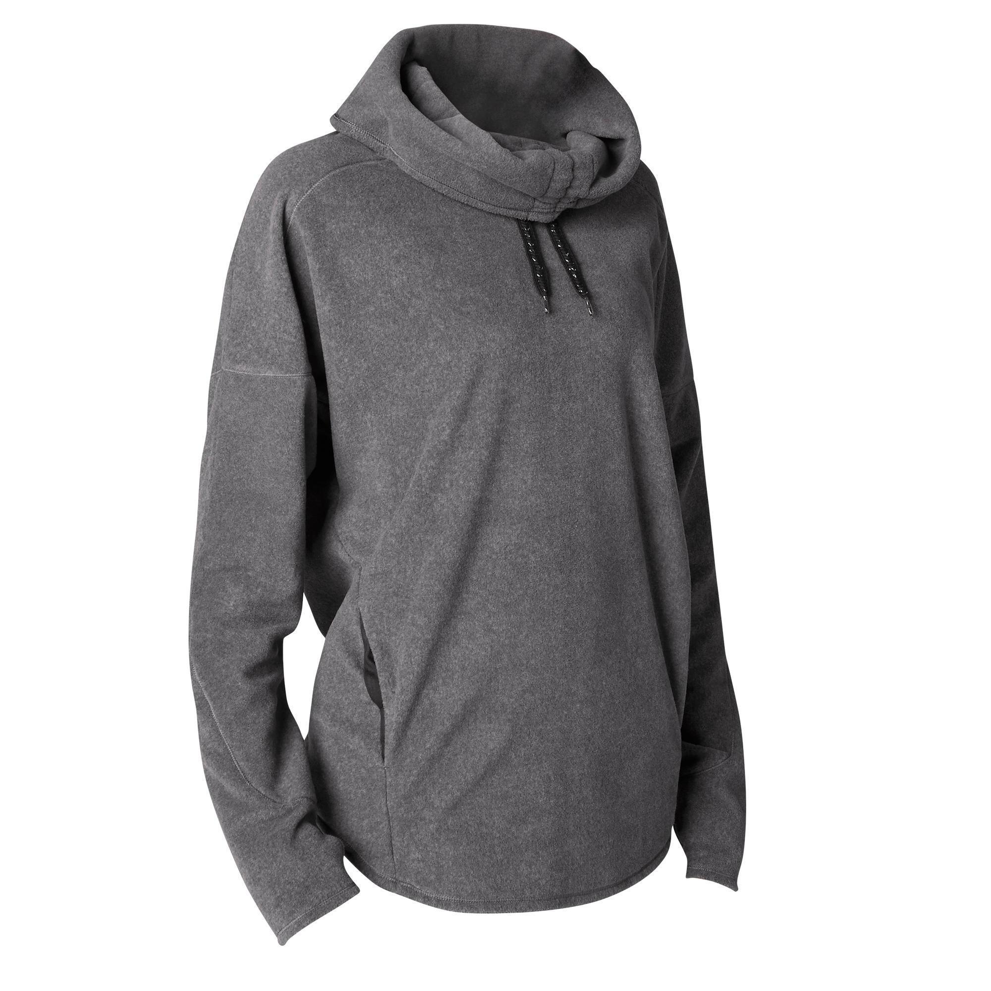Domyos Damessweater voor relaxatie bij yoga gemêleerd kopen