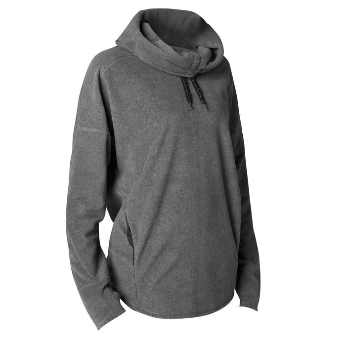 Sweat-shirt relaxation yoga micropolaire femme - 1419363