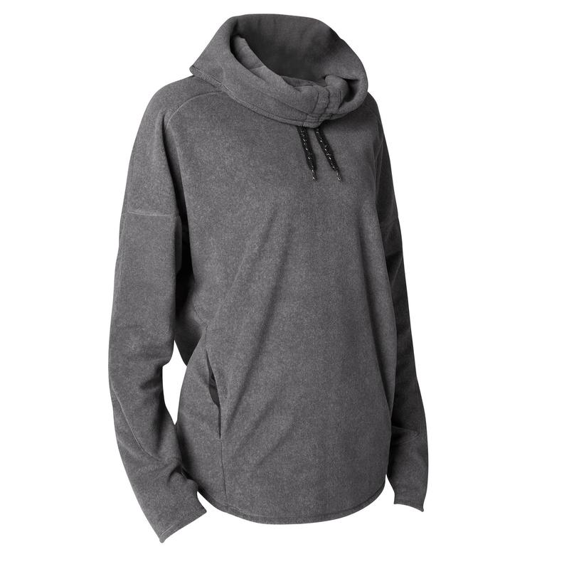 SWEAT POLAIRE RELAXATION YOGA FEMME GRIS CHINE