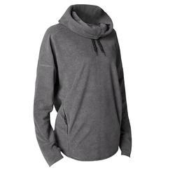 Damessweater voor relaxatie bij yoga microfleece grijs