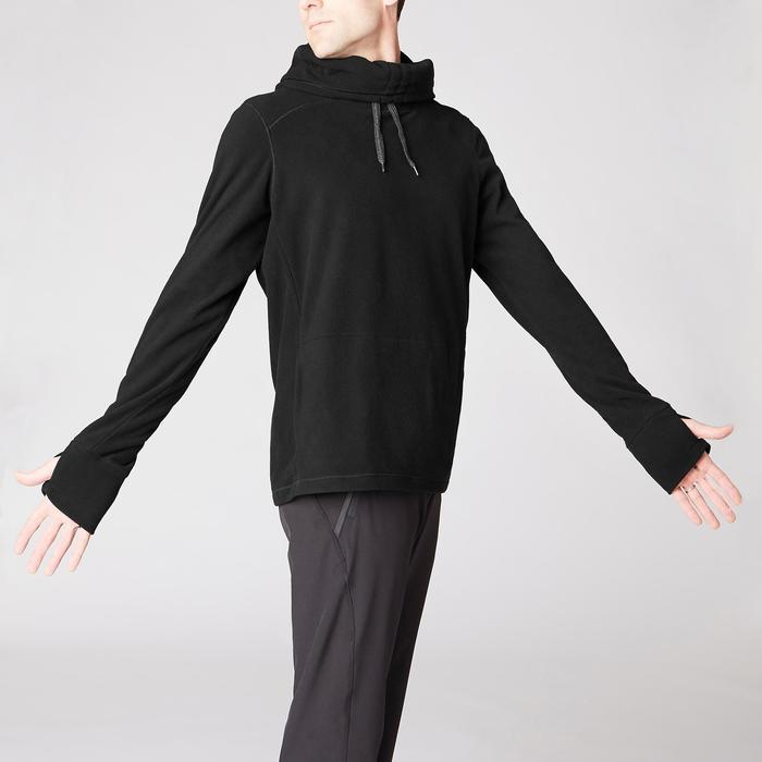 Sweat-shirt de relaxation yoga noir - 1419372
