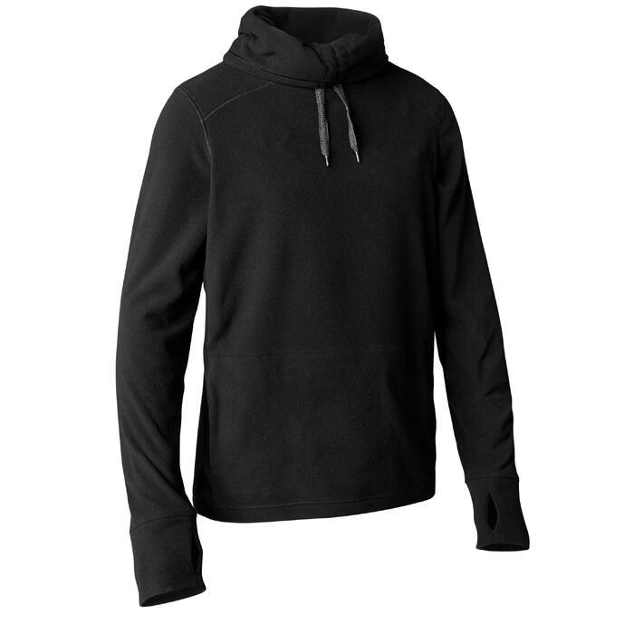Sweat-shirt de relaxation yoga noir - 1419373