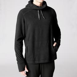Heren sweater voor relaxatie bij yoga zwart