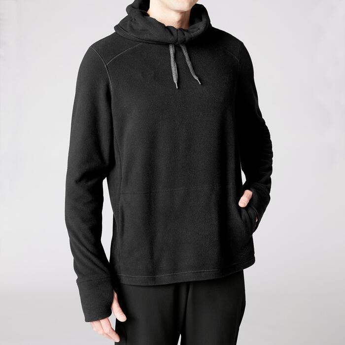 Sweater voor relaxatie bij yoga heren zwart