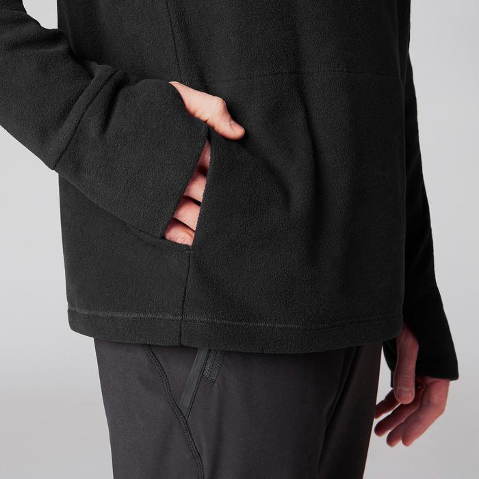 Sweat-shirt de relaxation yoga noir - 1419375