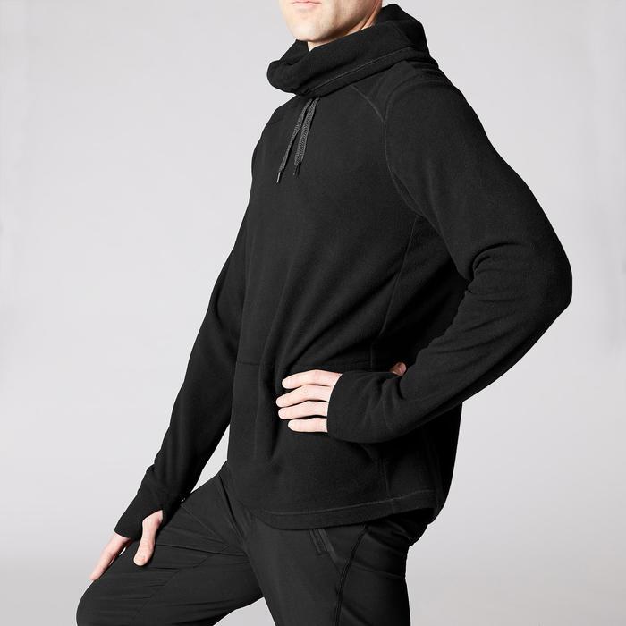 Sweat-shirt de relaxation yoga noir - 1419379