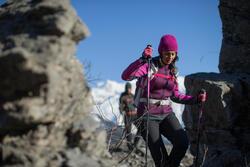Warme stretch damessweater voor trekking Forclaz 900 gemêleerd - 141947