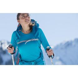 Langarmshirt Bergwandern MH150 Damen türkis