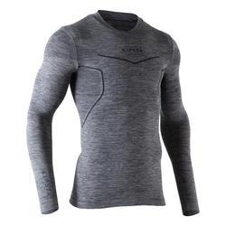 Camiseta térmica transpirable manga larga adulto Keepdry 500 gris jaspeado osc.
