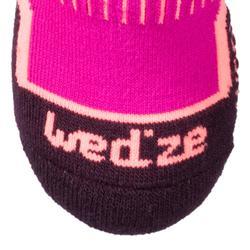 兒童滑雪襪100粉色