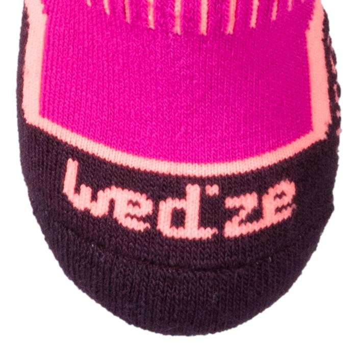 CHILDREN'S SKIING SOCKS 100 PINK