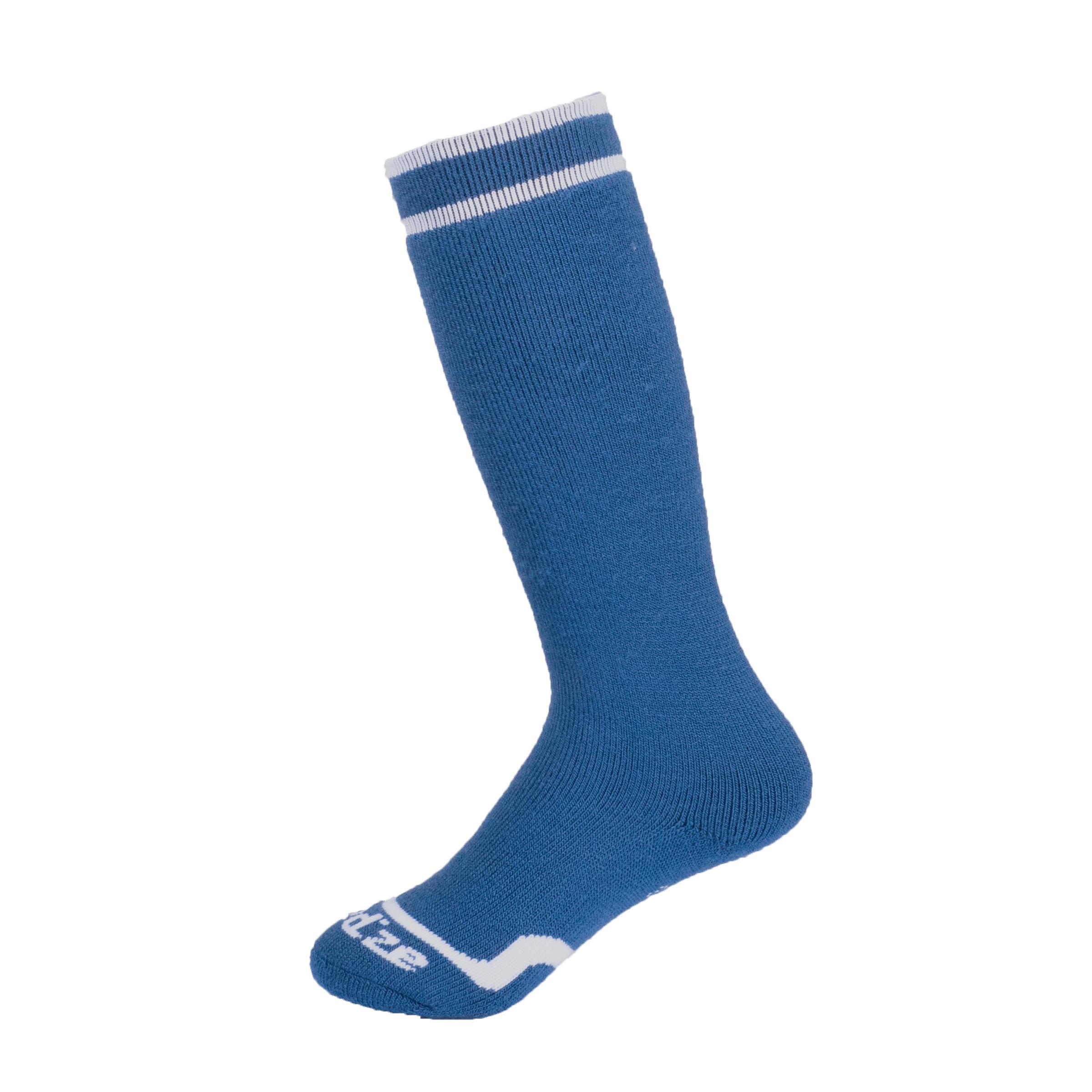 ถุงเท้าใส่เล่นสกีสำหรับเด็กรุ่น 50 (สีน้ำเงิน)