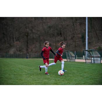 青少女足球短褲F500 -粉色