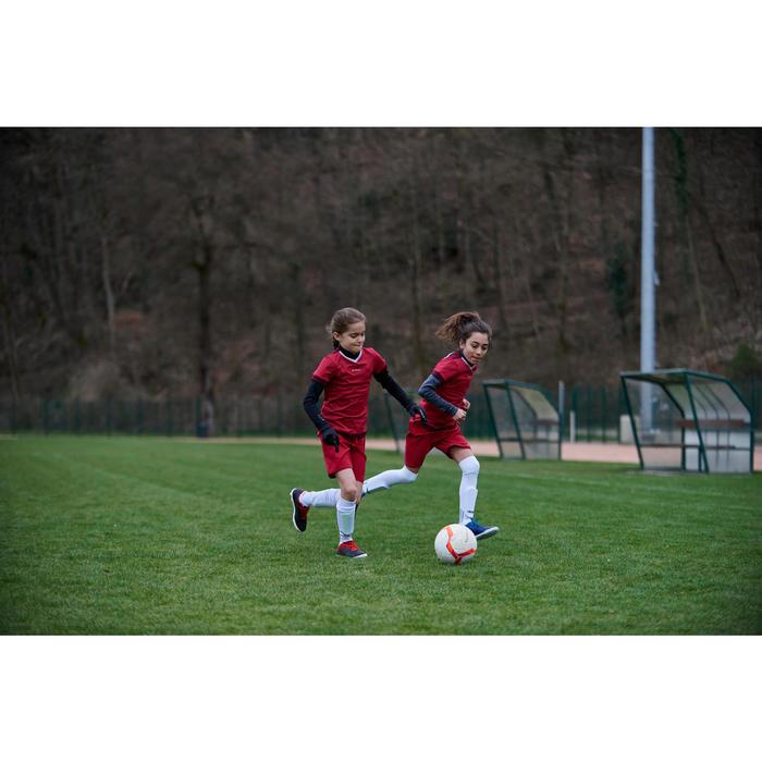 Voetbalshort F500 voor meisjes roze