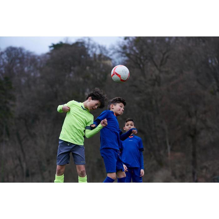 Funktionsshirt langarm Keepdry 500 atmungsaktiv Kinder blau-meliert