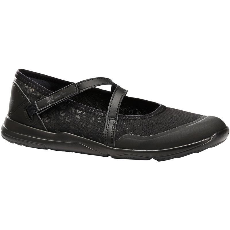 Damesballerina's voor sportief wandelen PW 160 Br'easy zwart