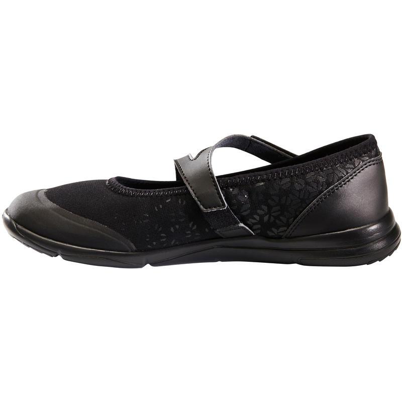 Walking Shoes for Women PW 160 Strap - pumps black