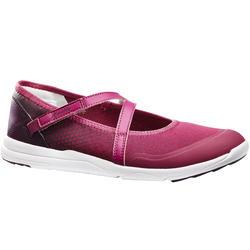 Dames ballerina's voor sportief wandelen PW 160 Br'easy paars