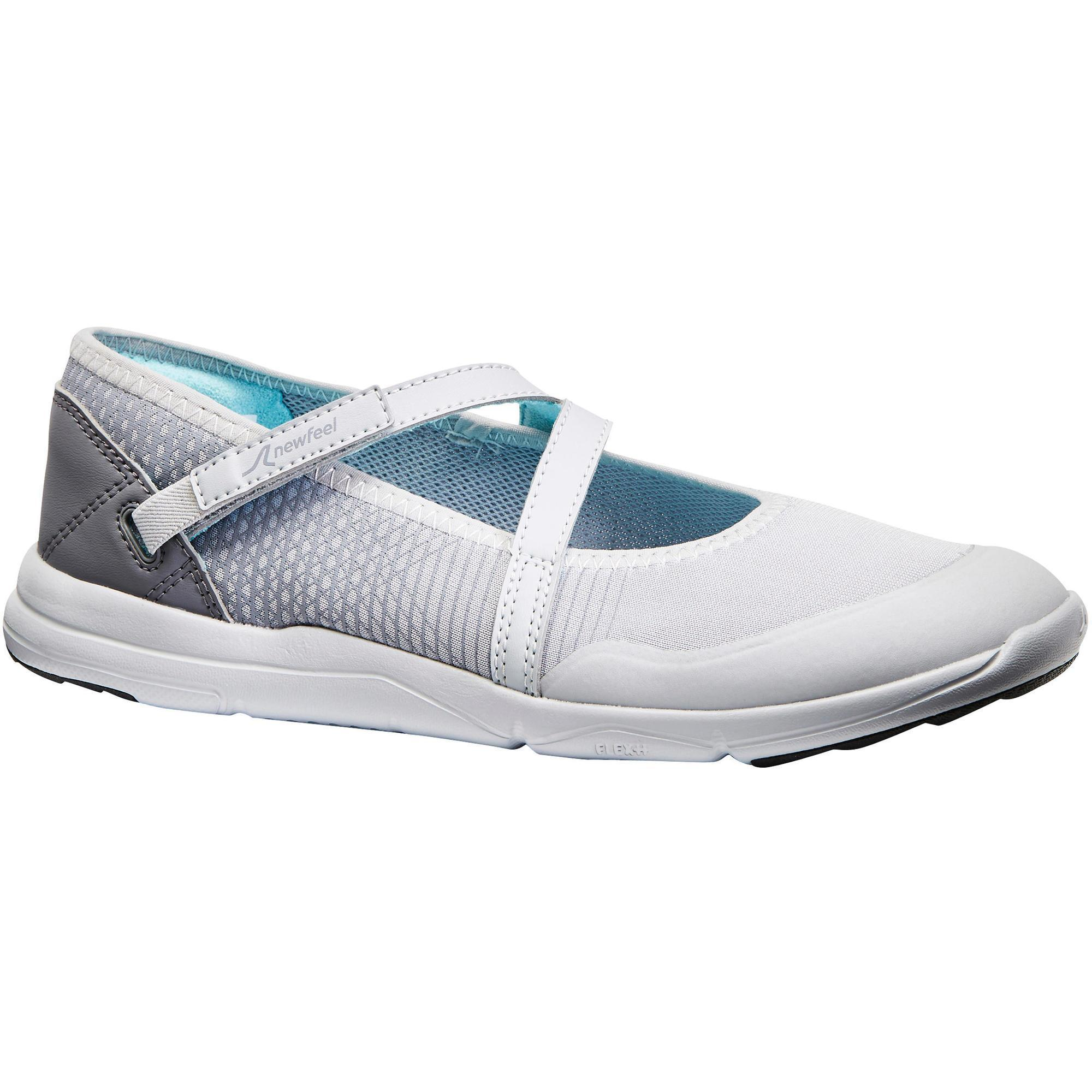 PW 160 Br'easy women's fitness walking pumps light grey/turquoise