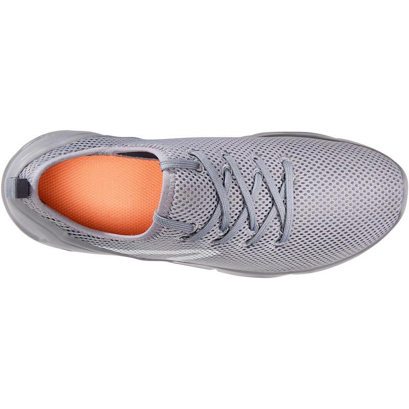 รองเท้าใส่เดินเพื่อสุขภาพสำหรับผู้หญิงรุ่น PW 100 (สีเทา)