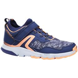 Zapatillas infantiles para marcha nórdica NW 580 azul/coral
