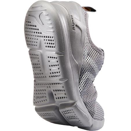 Tenis de caminata deportiva mujer PW 100 gris