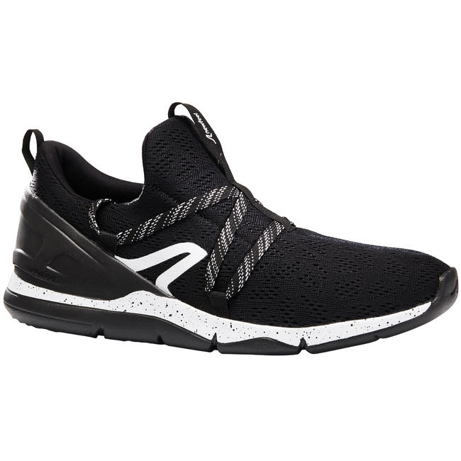 Walking shoes for Men Fitness PW 140-White/Black