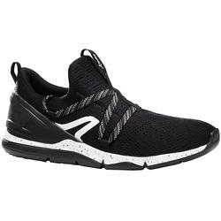 Herensneakers voor sportief wandelen PW 140 zwart / wit