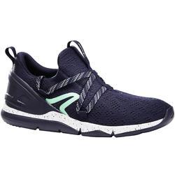 女款健走鞋PW 140-藍色/綠色