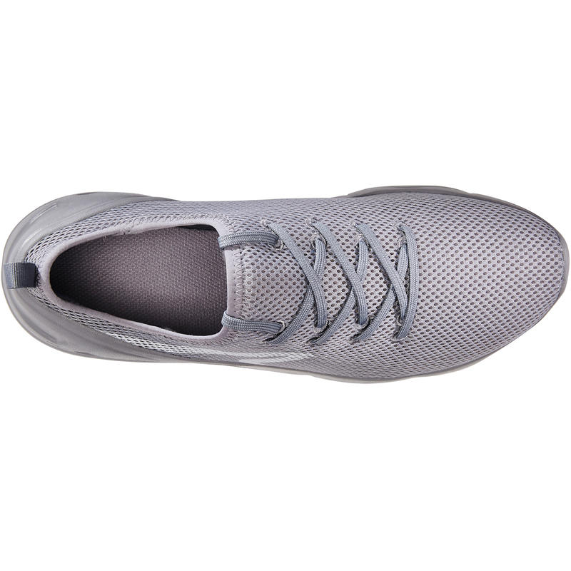 PW 100 men's fitness walking shoes - grey