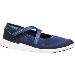 女款健走鞋PW 160 Br'easy-軍藍色