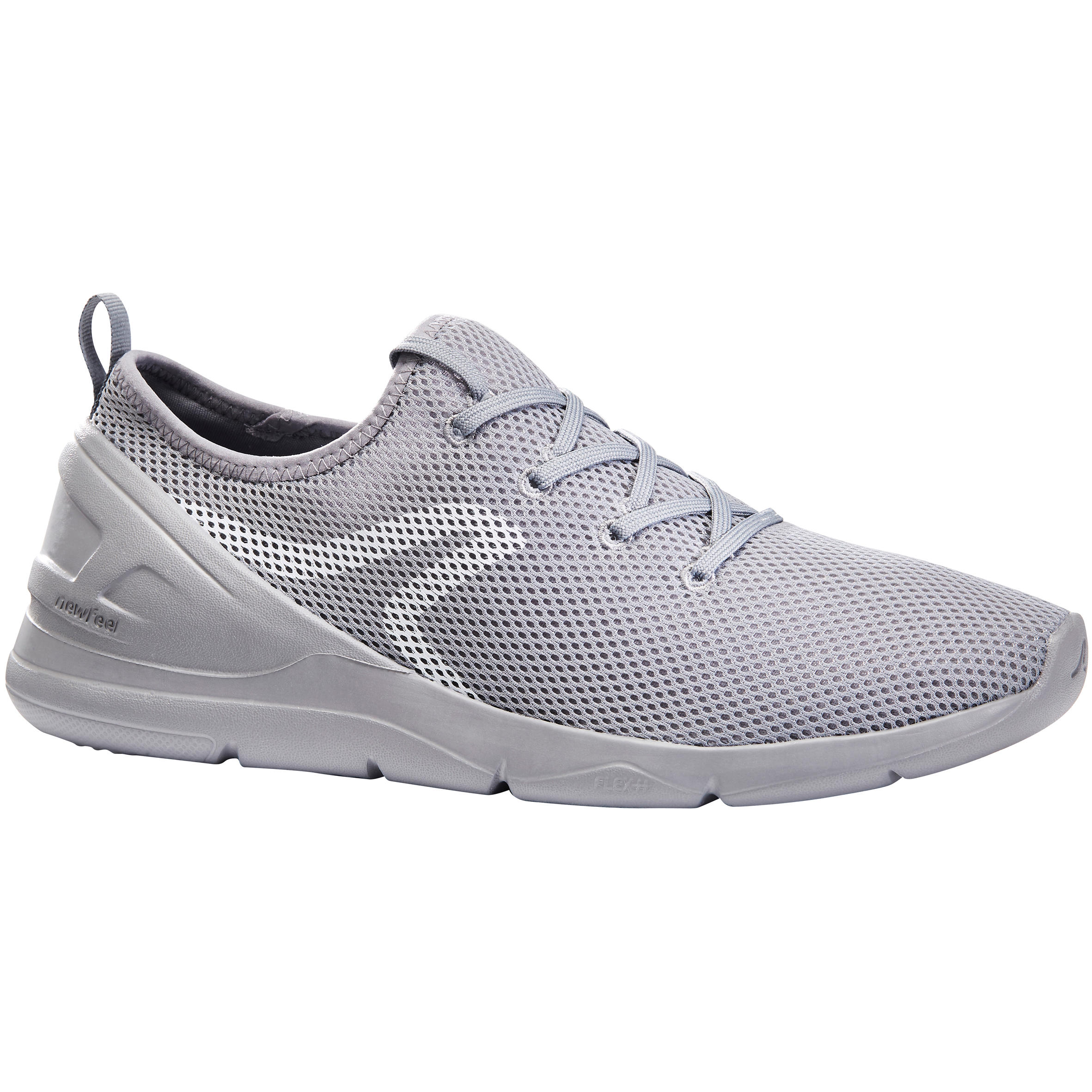 Chaussures marche sportive homme pw 100 gris newfeel
