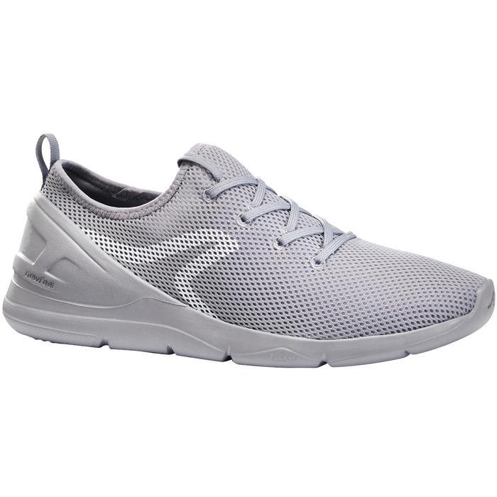 Herensneakers voor sportief wandelen PW 100 grijs