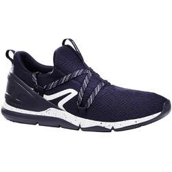 Herensneakers voor sportief wandelen PW 140 blauw / wit