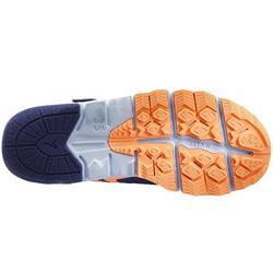 Nordic Walkingschuhe NW 580 wasserabweisend Kinder blau/koralle