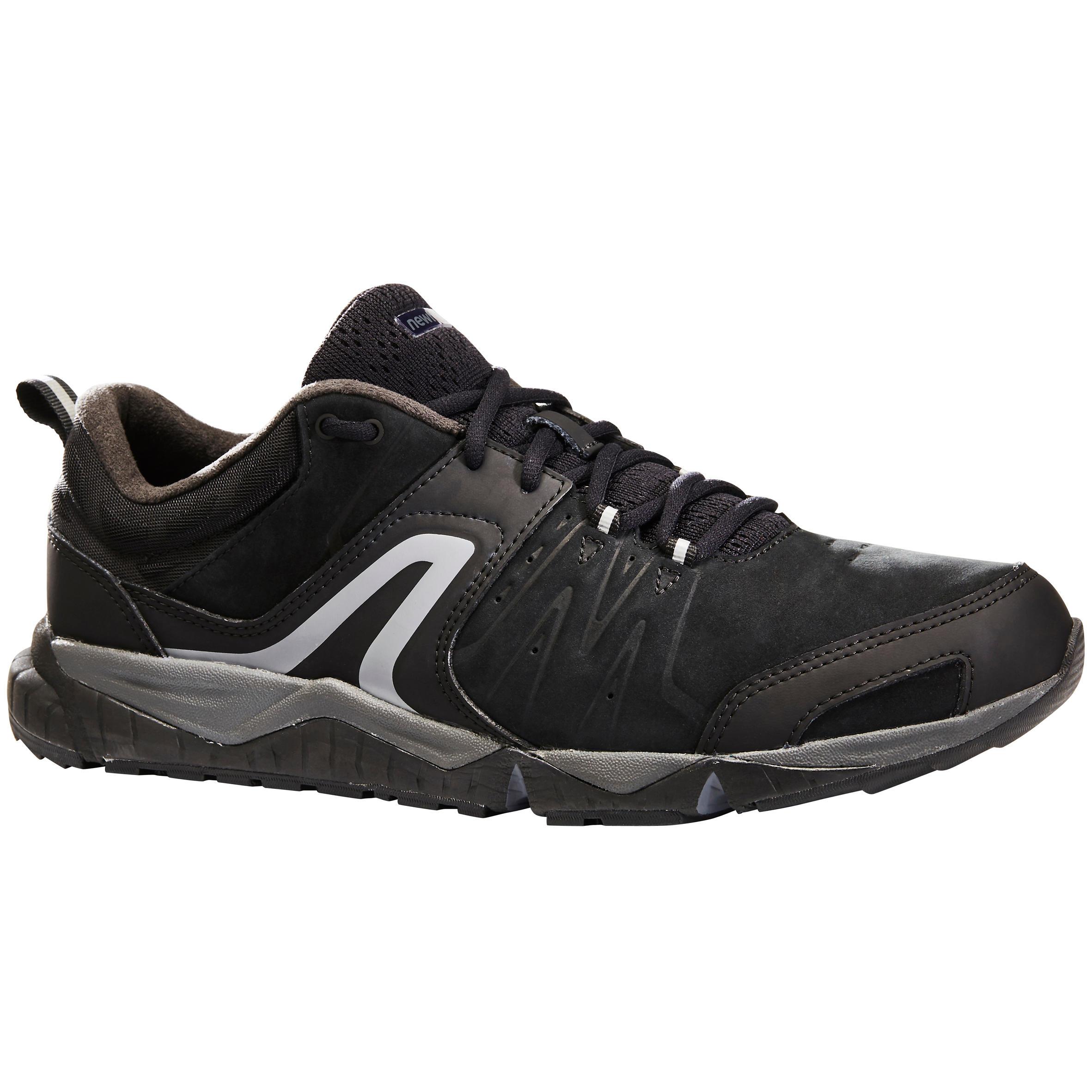 Newfeel Herensneakers voor sportief wandelen PW 940 Propulse Motion leer zwart