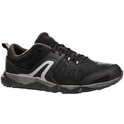 Herensneakers voor sportief / snelwandelen PW 940 Propulse Motion leer zwart