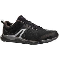 Herensneakers voor sportief / snelwandelen PW 940 Propulse Motion leer zwart