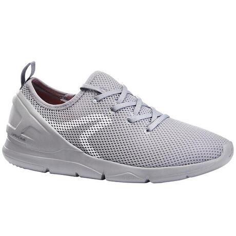 dcd45a16e82 Chaussures marche sportive femme PW 100 gris