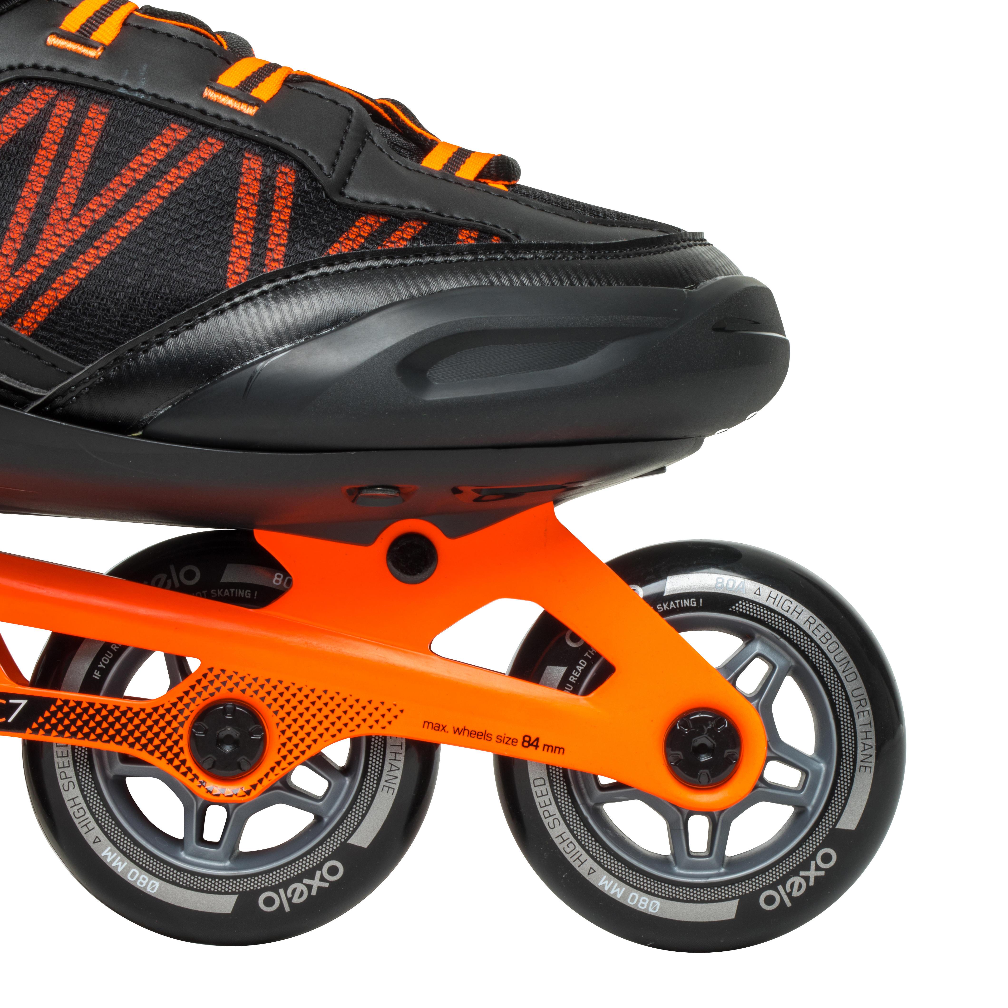 Patins à roues alignées pour homme FIT500 acide orange