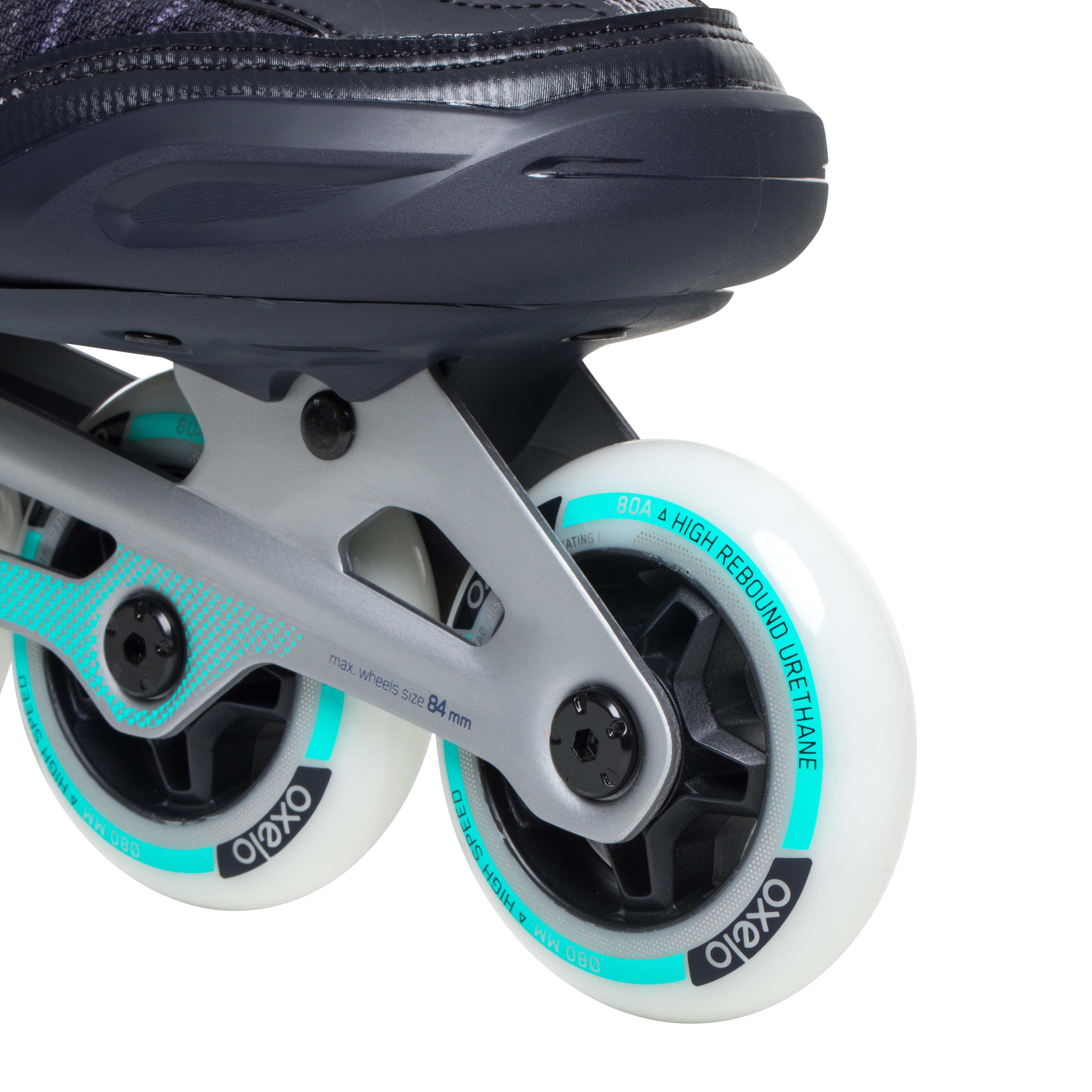 Patins à roues alignées pour femme FIT500 Menthe