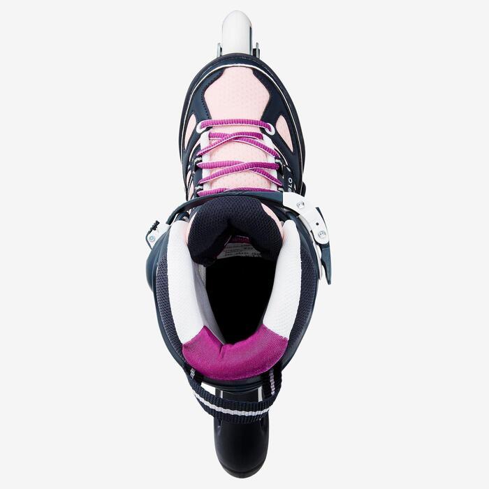 Fitness skeelers kinderen Fit 5 blauw roze
